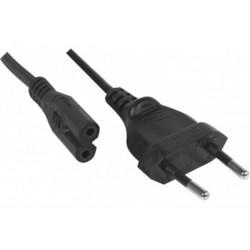 Cable d'alimentation - portable DELL (2 fils en ligne) Type C7 1m