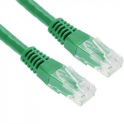 Cordon patch blindé Cat. 6 S/FTP cuivre 250 Mhz 1m - vert