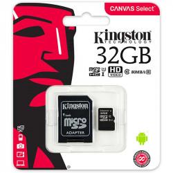 Carte mémoire MicroSDHC  32Go - Classe 10 - KINGSTON + adaptateur