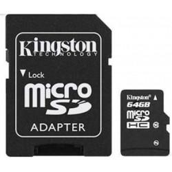 Carte mémoire MicroSDHC  64Go - Classe 10 - KINGSTON + adapt **NSFP