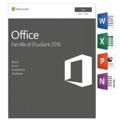MICROSOFT Office 2016 Mac Famille et Etudiant 1 poste