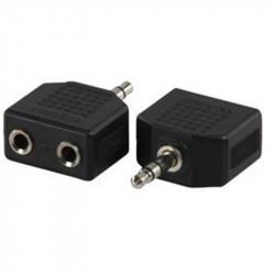 Adaptateur 2 Jack 3.5mm femelle /Jack 3.5mm mâle