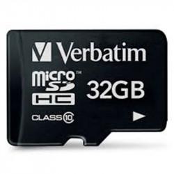 Carte mémoire MicroSDHC  32Go - Classe 10 - VERBATIM