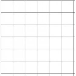 Tableau blanc 100 x 120 cm Emaillé magnét. + auget - Quad 5 x 5 cm