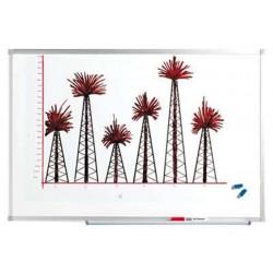 Tableau blanc  45 x 60 cm laqué magnétique - Cadre alu + auget