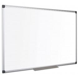 Tableau blanc  90 x 120 cm émaillé magnétique - Cadre alu + auget