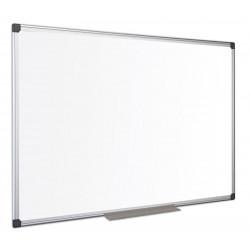 Tableau blanc 120 x 200 cm émaillé magnétique - Cadre alu + auget