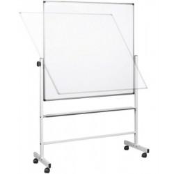 Tableau blanc rotatif  90 x 120 cm - Magnétique (sur roulettes)