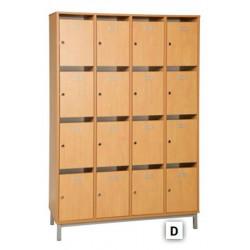 Meuble à courrier Professeur -16 cases ouvertes - L120xH183x45
