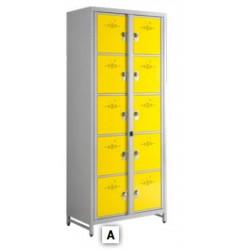 Casiers visitables CASEL Module de 10 - 90 x 218 x 50 cm avec 1 Pass