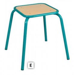 Tabouret assise carrée encastrée - Monobloc - H 45 cm