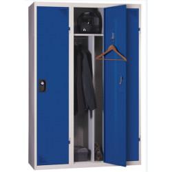 Vestiaire suivant industrie sale, gris bleu, HT180 x L40 x P50 cm