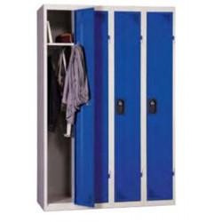 Vestiaire suivant industrie propre, gris bleu, HT180 x L30 x P50 cm