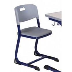 Chaise Scolaire Bleu et Grise - Hauteur : 42 cm - T5 (CE2 / CM1)