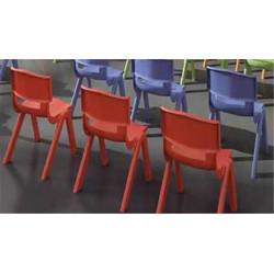 Chaise plastique GRISE - Assise H 46 cm - T6