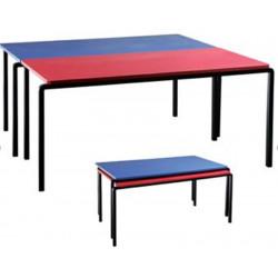 Table matern. Mélaminé - Rectangle Pieds métal (120 x 60 cm H 58 cm)