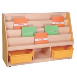Bibliothèque pour livres - Dim:120 x 30 - Haut: 80 cm (sans bac 15cm)