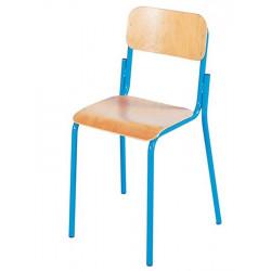 Chaise Scolaire en bois - Pieds Métal - H 38 cm - T4 (CP / CE1)