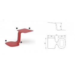 Table et chaise de travail portable. Rouge