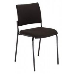 Chaise Visiteur INFINY 4 pieds -Sans acc, Dos tapissé, Similicuir
