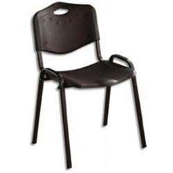 Chaise Visiteur ISO Polypropylene  4 pieds - Coloris Noir