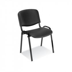 Chaise Visiteur ISO  4 pieds -Tissu Similicuir / Coloris Noir