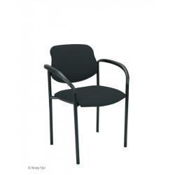 Chaise Visiteur STYL ARM - Avec acc. NOIR - Assise