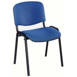 Chaise Visiteur ISO Classic - 4 pieds - Tissu Cagliari BLEU