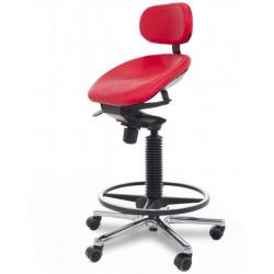 Siège assis debout - Dossier bas - Assise Dynamique Taille L  - Noir