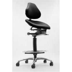 Siège assis debout - Dossier haut - Assise Dynamique Taille L  - Noir