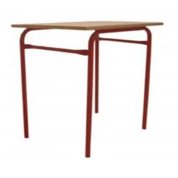 Table Scolaire Bois Stratifié Hêtre 70 x 70 cm  H 76cm T6 CM2-Lycée