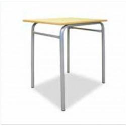 Table Scolaire Bois 70 x 50cm - Plateau Stratifié Hêtre T6 CM2-Lycée