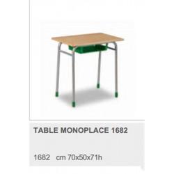 Table Scolaire Bois Stratifié Hêtre 70 x 50 cm  H 70cm  T5 (CE2/CM1)