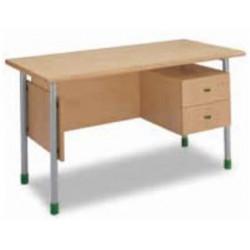 Bureau Enseignant - Plateau bois L140 x l70 x H76cm - 2 tiroirs