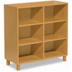 Bibliothèque en bois  3 niveaux de rangement - 104 x 105 cm - P 44cm