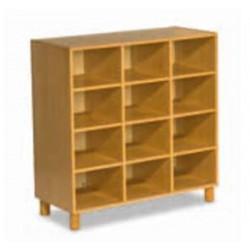 Bibliothèque en bois 12 compartiments - Dim : 104 x 105 cm -  P44 cm