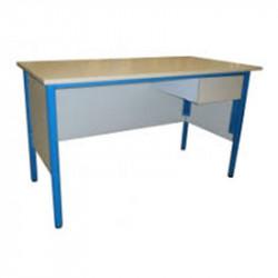 Bureau Enseignant - Plateau bois L140 x l70 x H76cm - 1 niche étagère