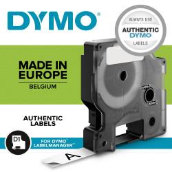 DYMO D1 - Standard Étiquettes - Noir sur blanc - 6mm x 7m