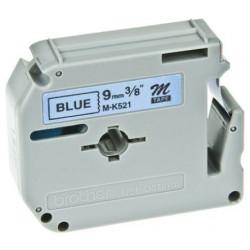 Brother M-K521BZ ruban d'étiquette Noir sur bleu